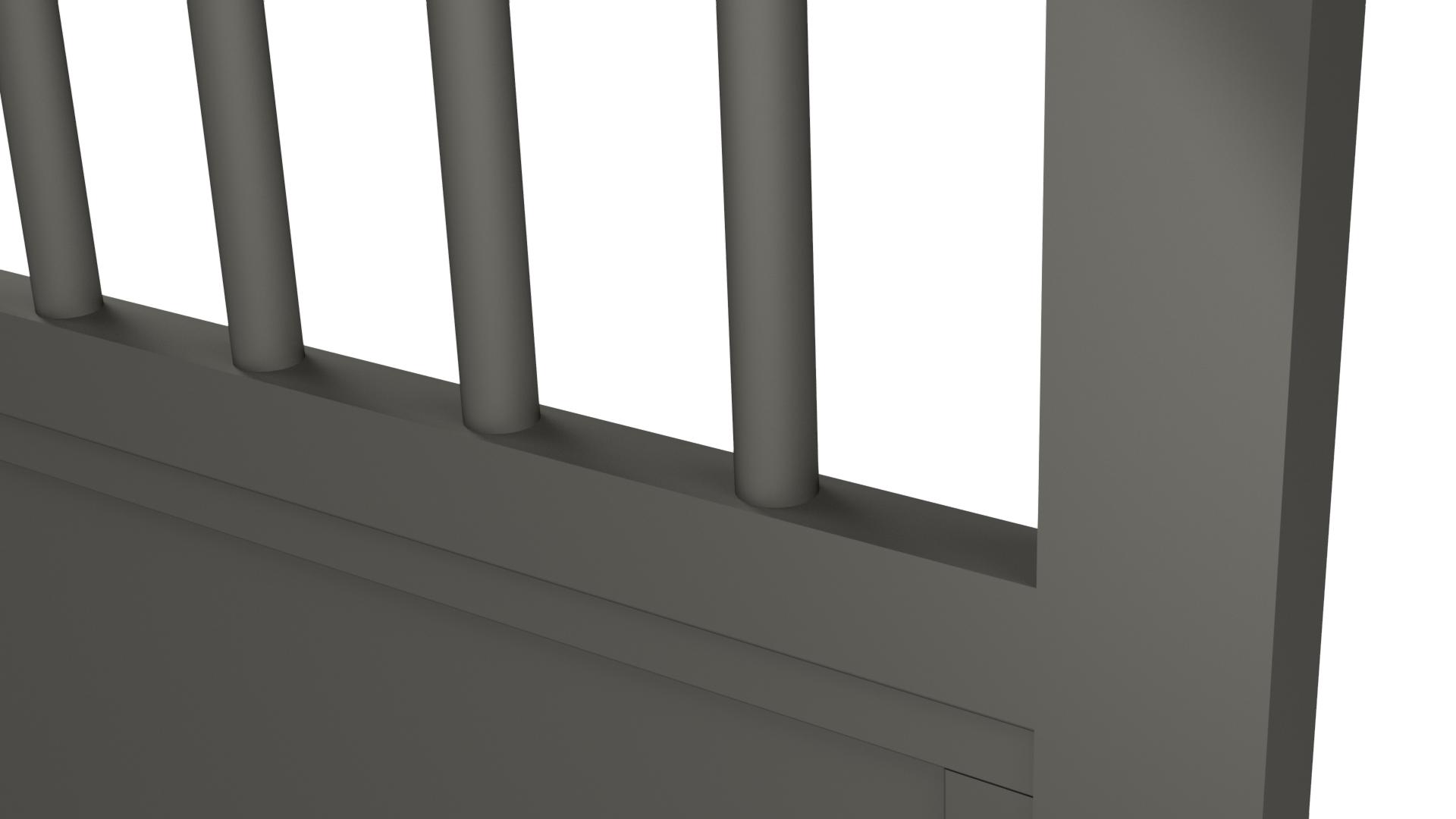 Zoom sur un barreau de portail en aluminium rond diamètre 30