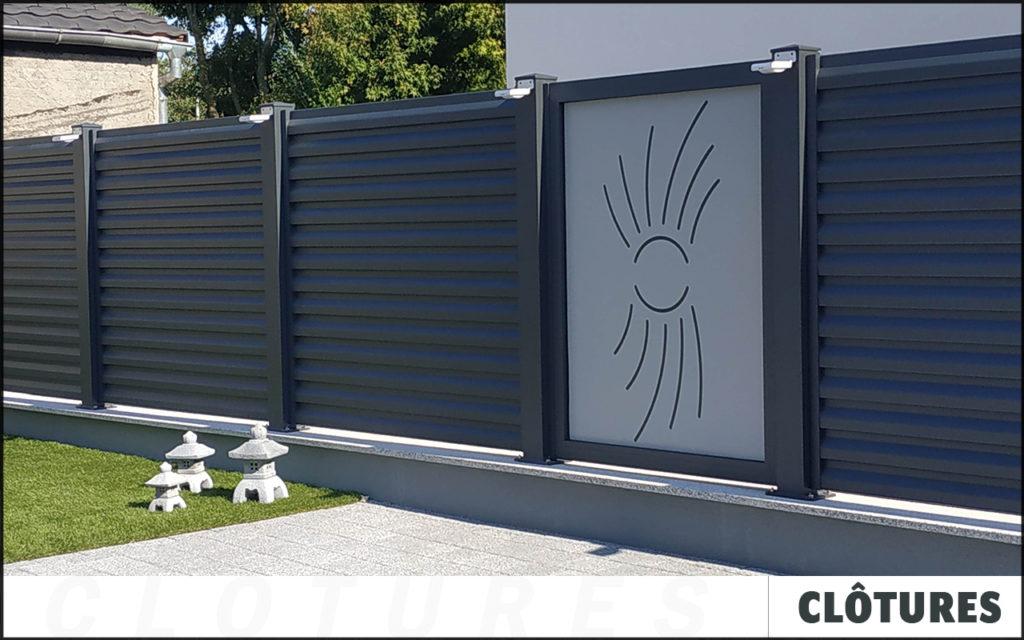 Clôture en aluminium sur mesure avec découpes personnalisées