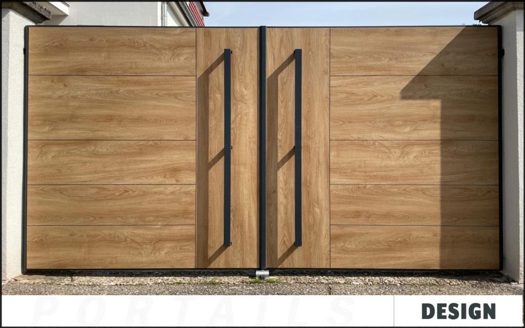 Portail Design aluminium sur mesure