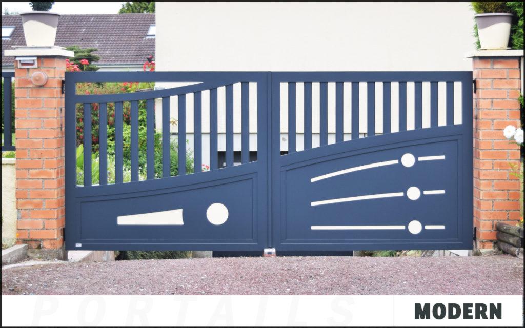 Portail Modern en aluminium sur mesure