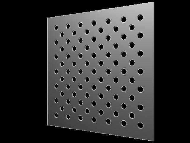 Perforations ronds diamètre 20mm