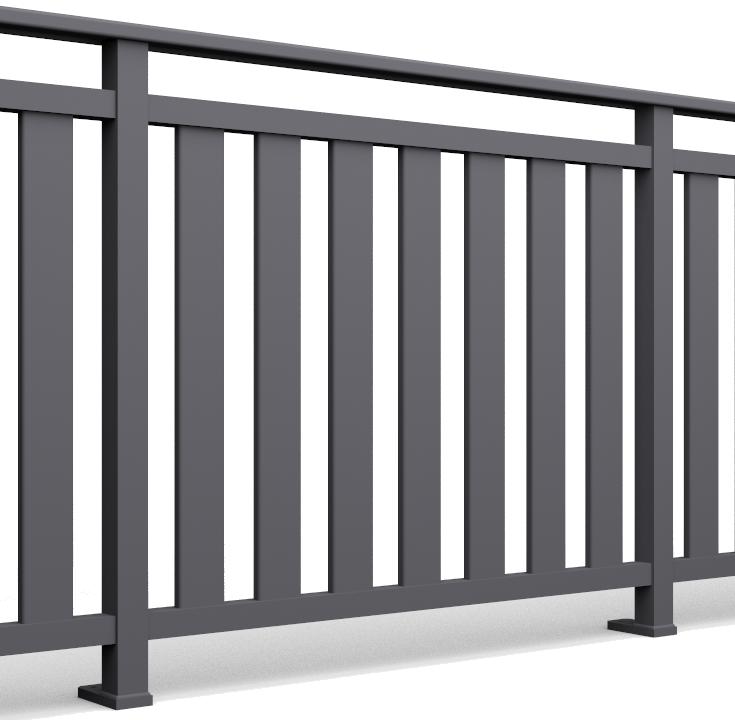 Barreaux pour garde de corps alu 80x20