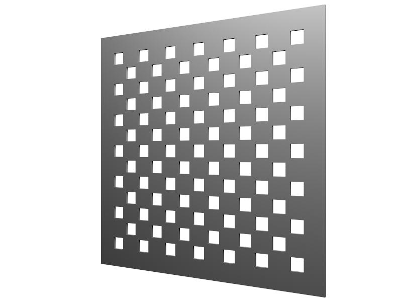 Perforations carré 20mm