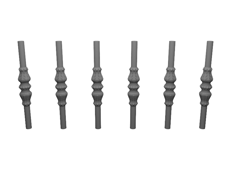 Décors rangée de fourreaux aluminium CLASSALU