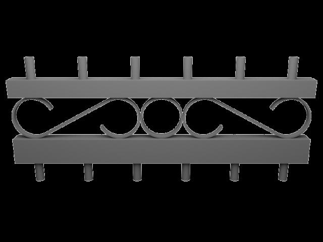 Décors de rangée de ronds volutes droite pour garde-corps aluminium CLASSALU