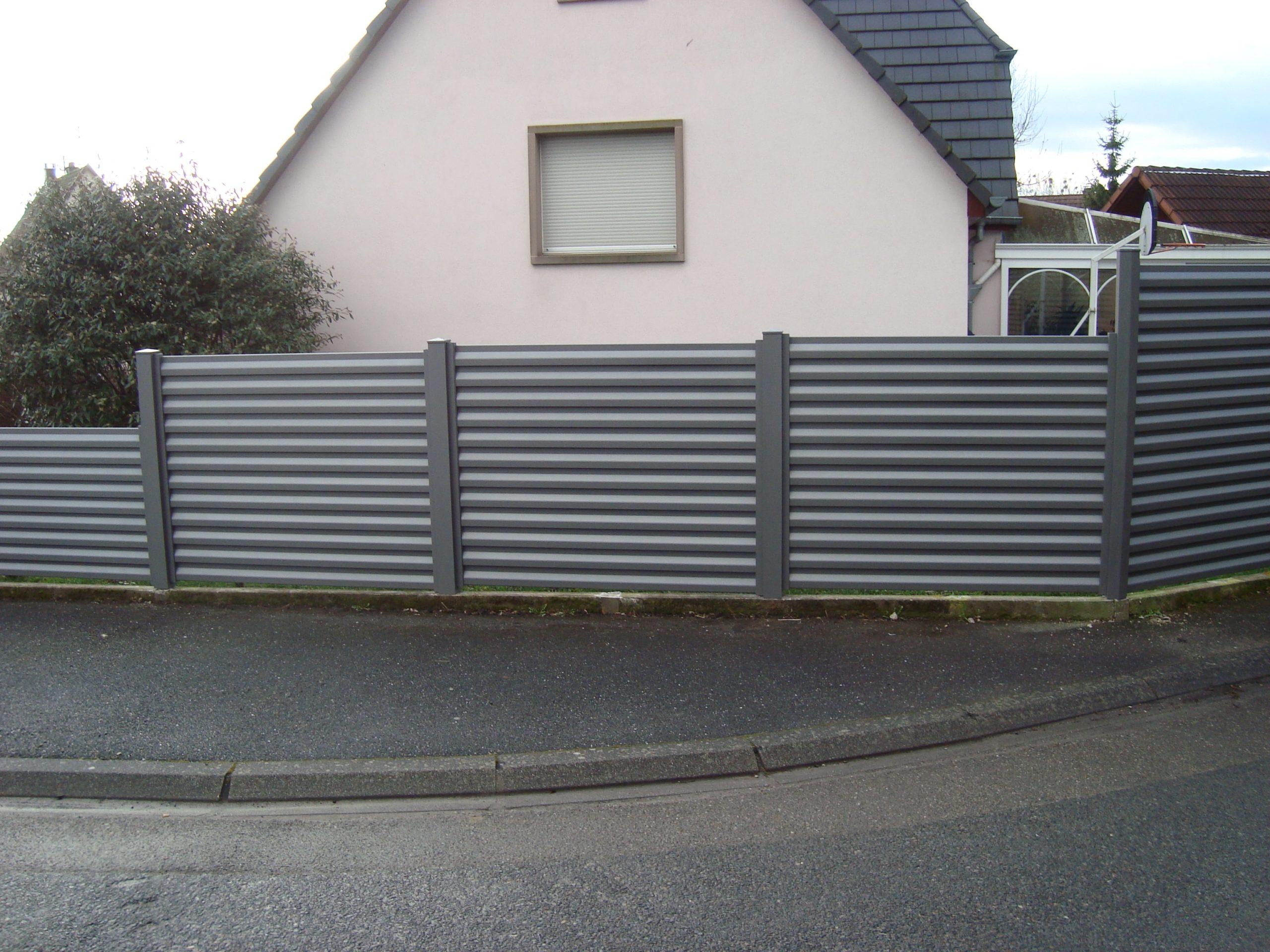 Clôture en aluminium lames brise vue