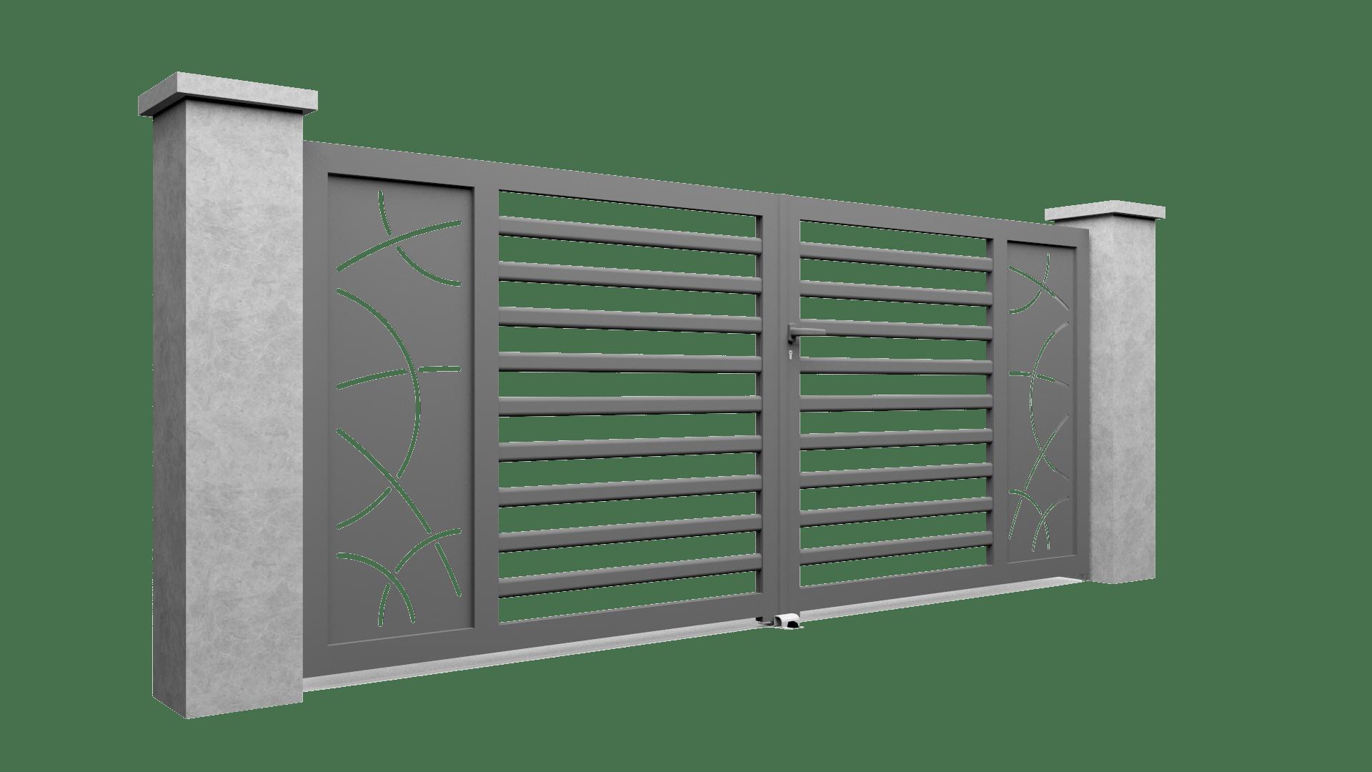 Motif pour portail en alu M06