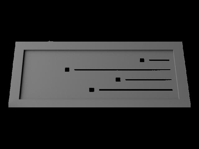 Motif pour garde corps M16