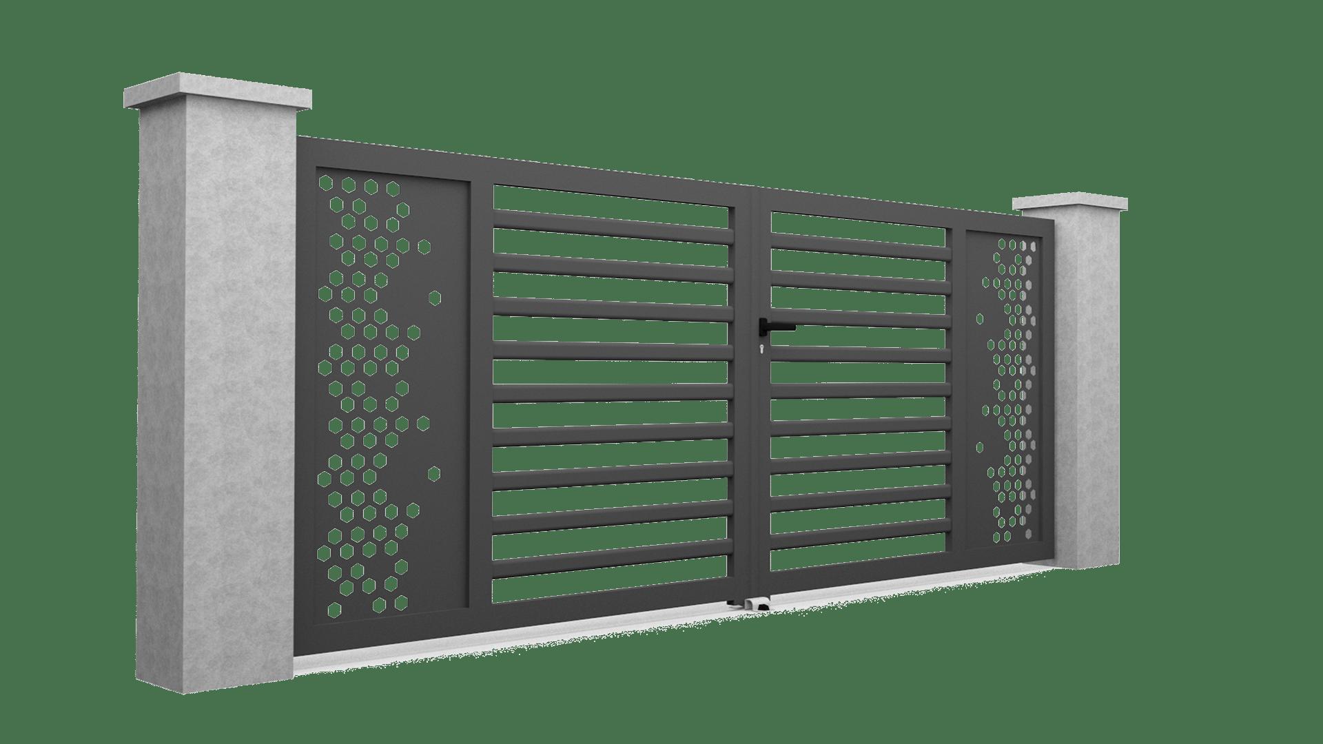 Motif pour portail en alu M20