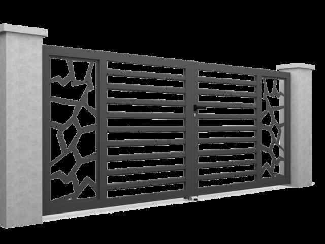 Motif pour portail en alu M21