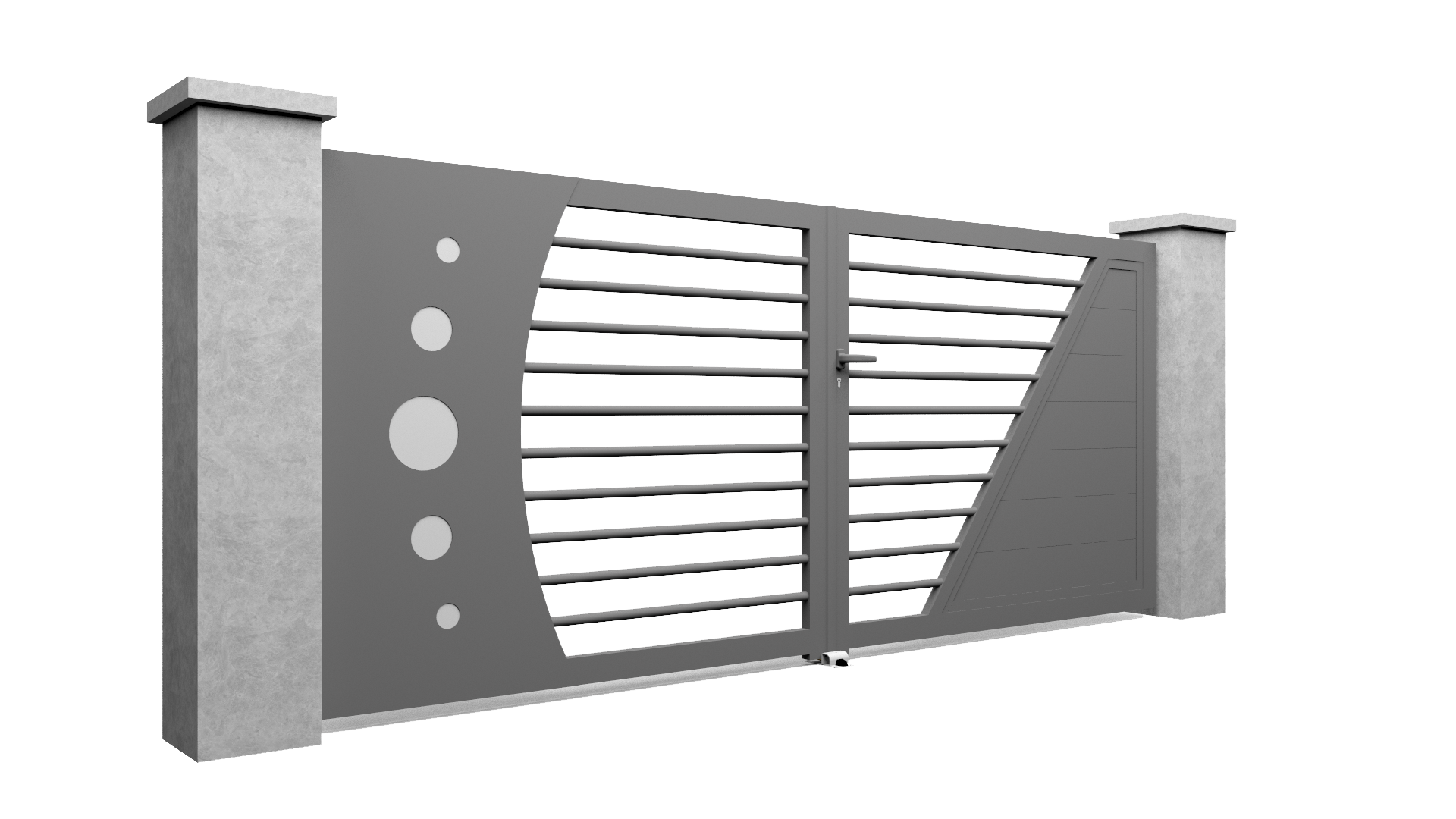 Modèle de portail en aluminium Select Hybrid A