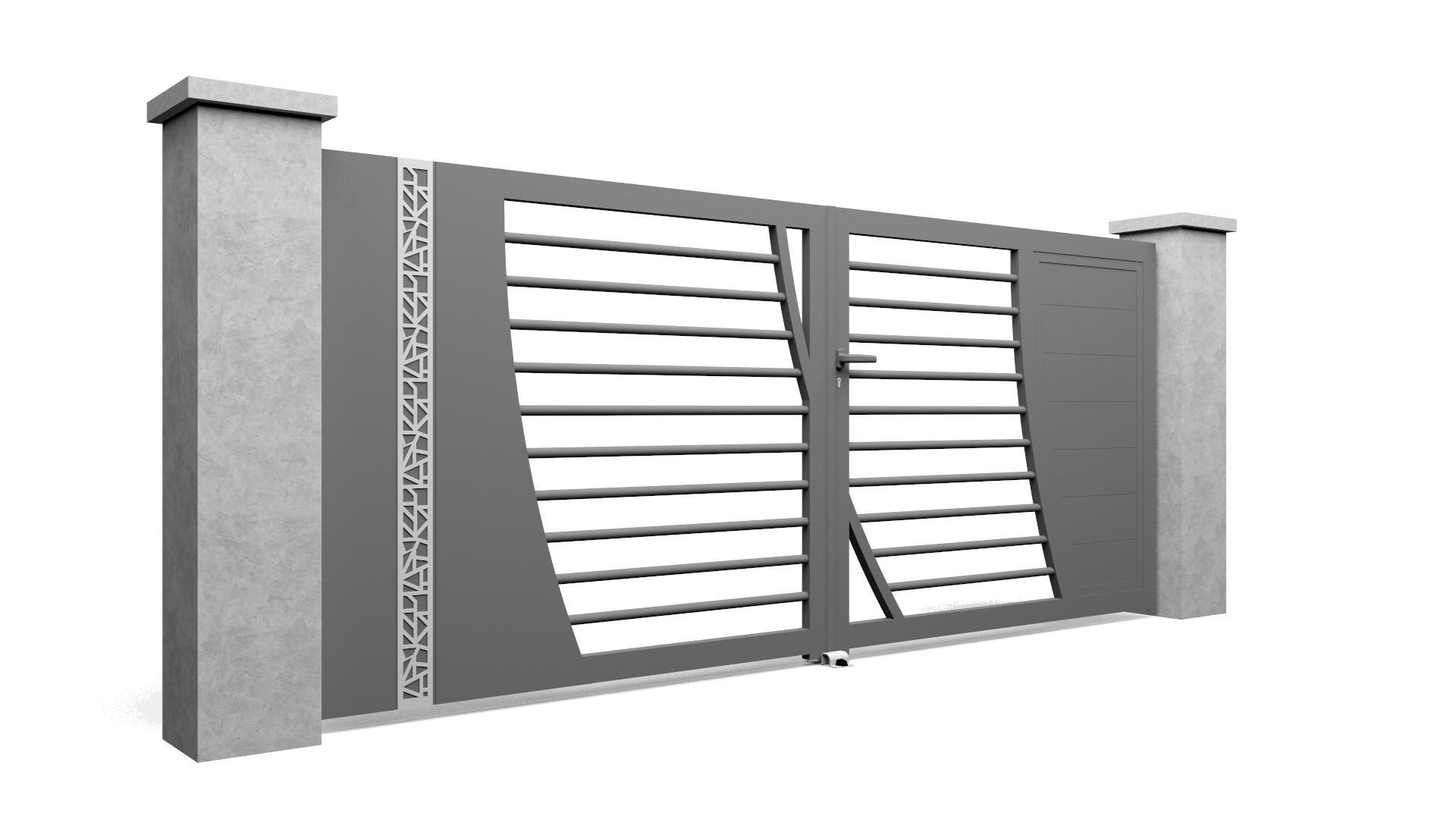 Modèle de portail en aluminium Select Hybrid B