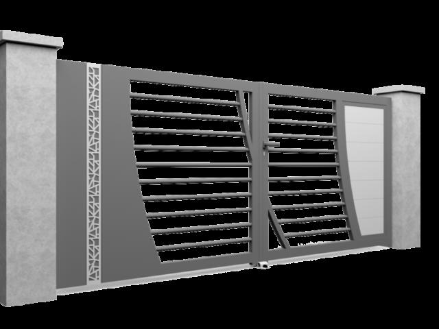 Modèle de portail en aluminium Select Hybrid B avec bicoloration