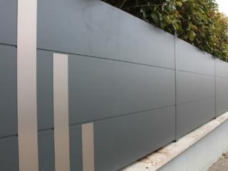 Clôture en aluminium sur mesure